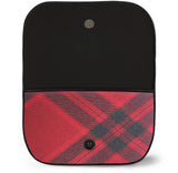 Mary Queen of Scots Tartan Suede Clutch Bag Open View