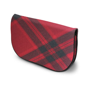 Mary Queen of Scots Tartan Suede Clutch Bag Side View