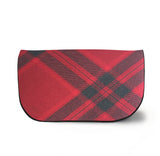 Mary Queen of Scots Tartan Suede Clutch Bag Front View