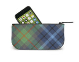 New York City Tartan Mini Clutch Open View