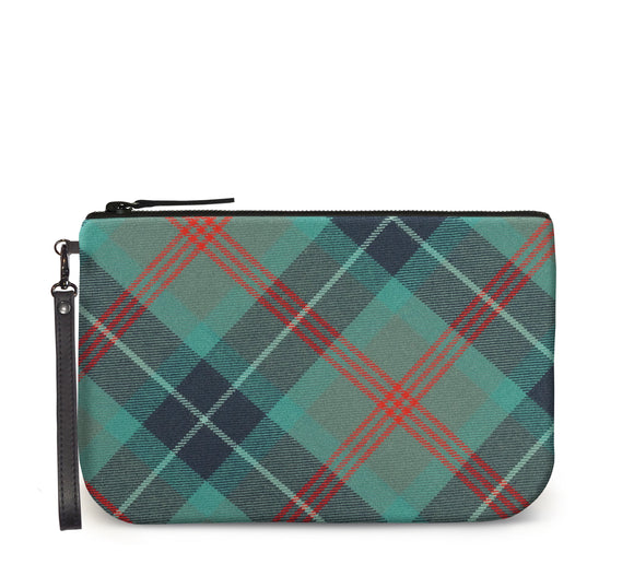 Loch Ness Tartan Large Clutch Front View