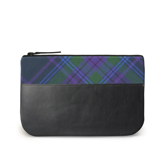 Spirit of Scotland Tartan Leather iPad Case Front View