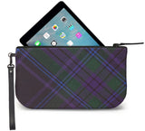 Spirit of Scotland Tartan Wristlet Clutch Open View
