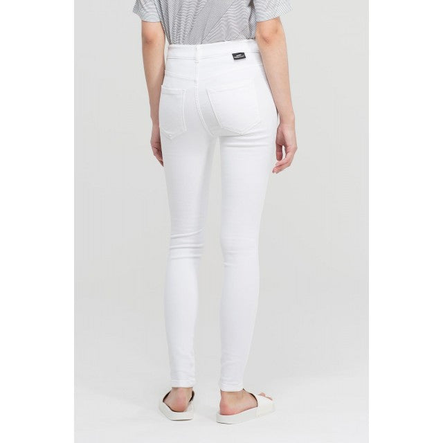 Dr Denim Jeans - White Ripped