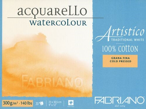 Artistico Traditional White Watercolor Blocks // Cold Press (300GSM)