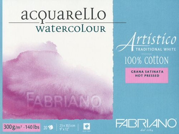 Artistico Traditional White Watercolor Blocks // Hot Press (300GSM)