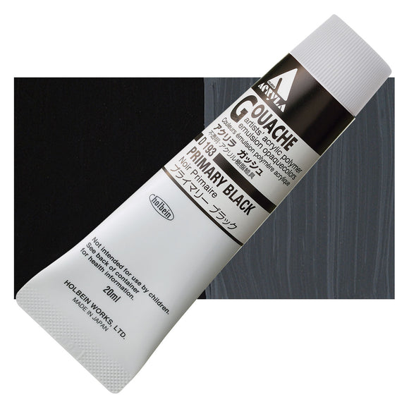 Holbein Acryla Gouache 20ml Tube // Primary Black