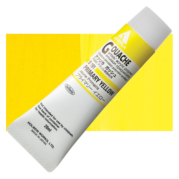 Holbein Acryla Gouache 20ml Tube // Primary Yellow
