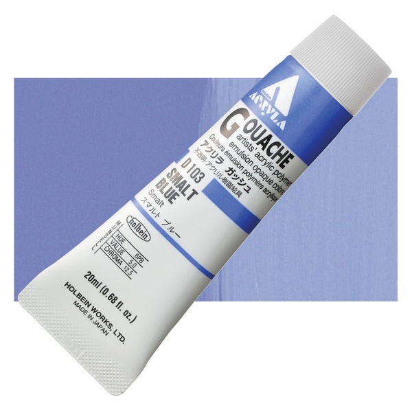 Holbein Acryla Gouache 20ml Tube // Smalt Blue
