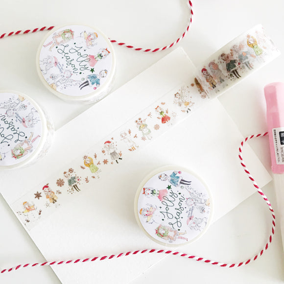 Qiara's Christmas Rose Gold Foil Washi Tape