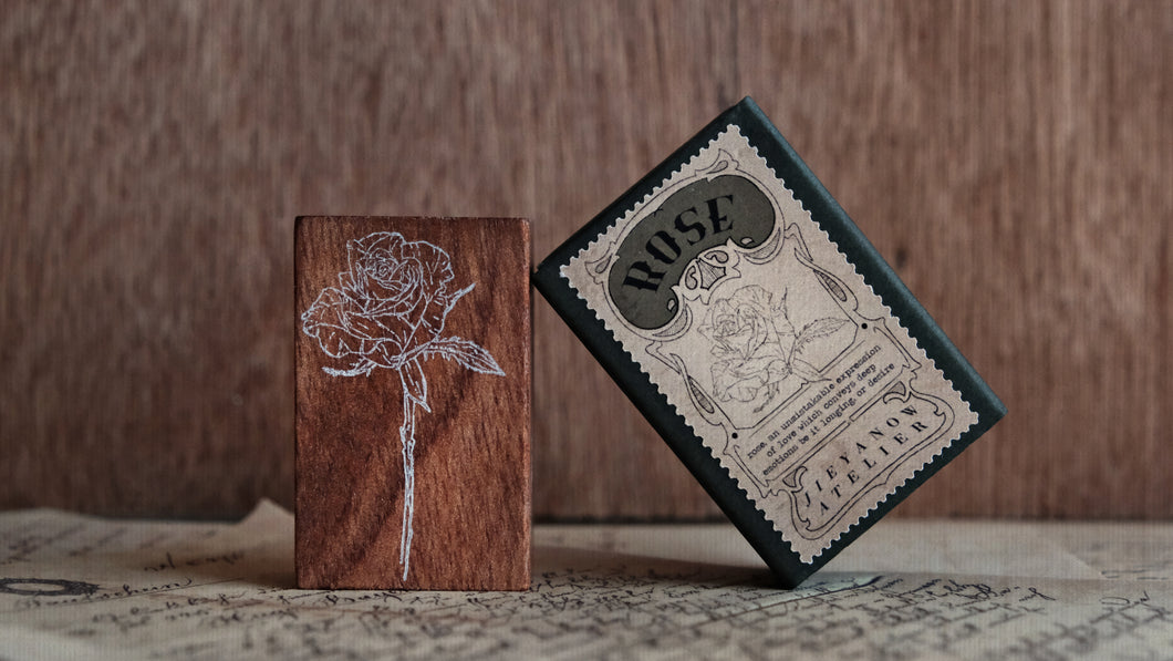 Jieyanow Atelier - Garden of Inspiration Rubber Stamp // Rose