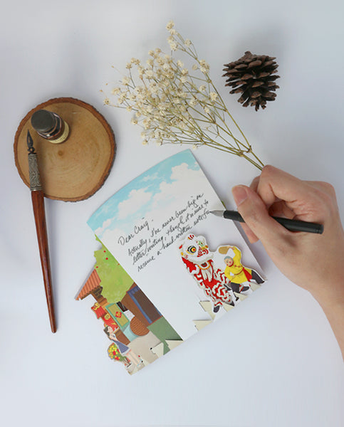 360° 3D Pop Up CNY Greeting Card: The Transition of Fortune & Grace