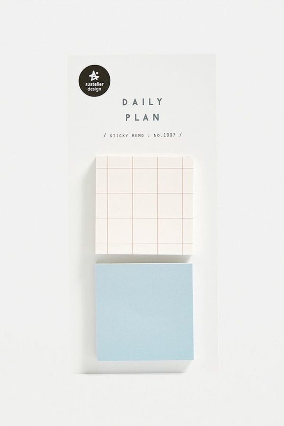 Daily Plan Sticky Memo // Grid