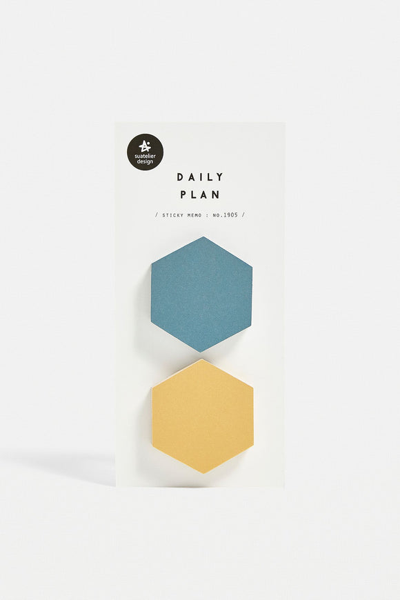 Suatelier Daily Plan Sticky Memo 2 Hexagon