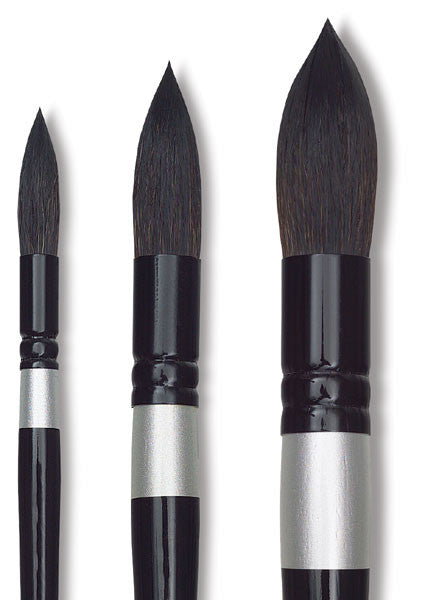 Silver Brush Black Velvet Brush - Round