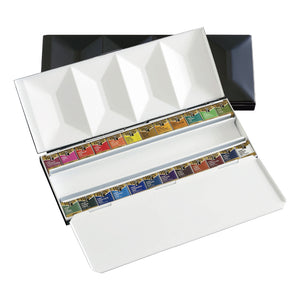 Artist's Metal Box Plus Watercolors in Half Pans (24)