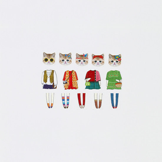 Bande Folk Cat Masking Sticker