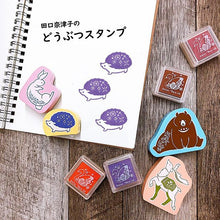 Load image into Gallery viewer, Kodomo No Kao x Atelier Naco Rubber Stamp // Hedgehog