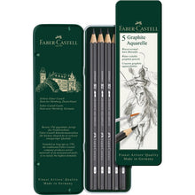 Load image into Gallery viewer, Graphite Aquarelle Pencil Tin of 5