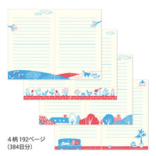 Load image into Gallery viewer, MIDORI Journal with Embroidery Bookmark // Cat
