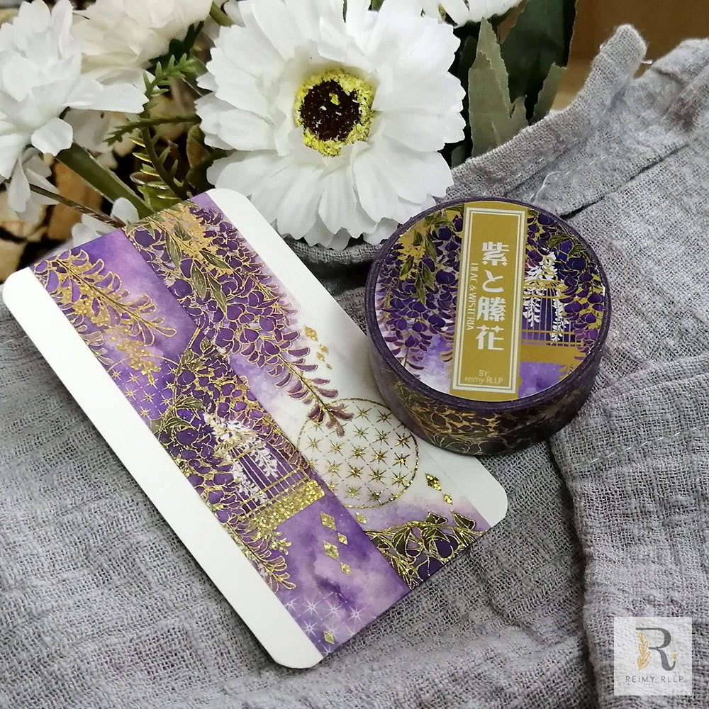 Reimy Gold Foil Washi Tape / Lilac & Wisteria
