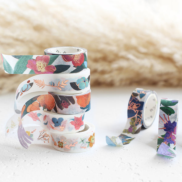 BGM Foiled Masking Tape | Blue Flower