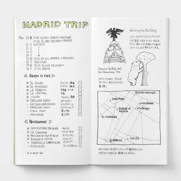 TRAVELER'S Notebook 026 Dot Grid Refill // Regular
