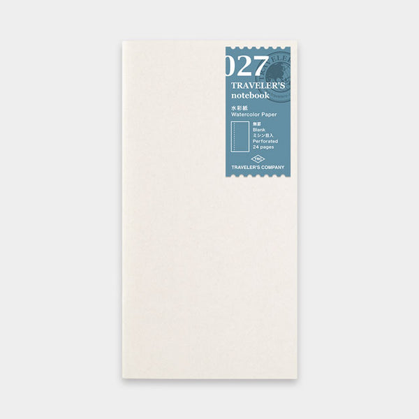 TRAVELER'S Notebook 027 Watercolor Paper Refill // Regular