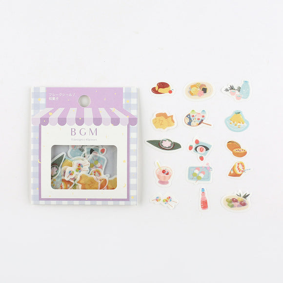 BGM Flake Stickers | Japanese Sweets