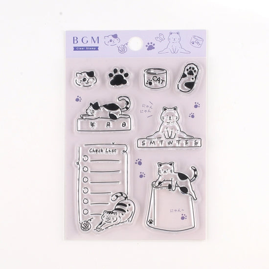 BGM Clear Stamp | Cat