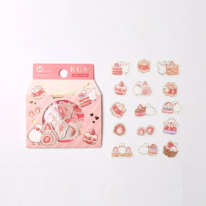 BGM Flake Stickers | Strawberry Birds
