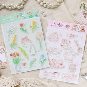 BGM Clear Stamp | Flower Wreath