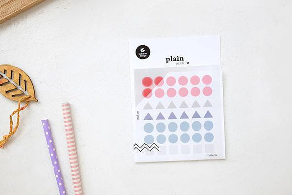 Suatelier Plain 02 Sticker Sheet