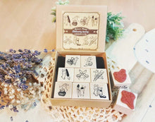Load image into Gallery viewer, Maruco Rubber Stamp Set // Stationery Bunny
