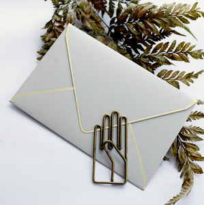 Gold Trim Envelope // Grey Silver