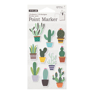 Midori Point Marker Sticky Note (S) // Cactus