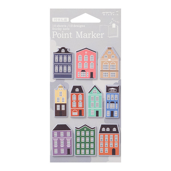 Midori Point Marker Sticky Note (S) // House