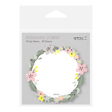 Load image into Gallery viewer, Midori Katanuki Fusen Sticky Note // Wreath