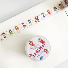 Load image into Gallery viewer, Qiara's Christmas Gold Foil Washi Tape