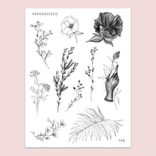 Load image into Gallery viewer, PapergeekCo Sticker // 198 Lineart Floral