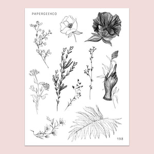 PapergeekCo Sticker // 198 Lineart Floral