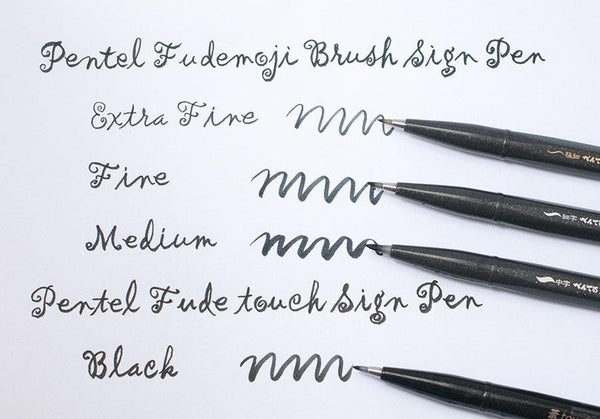 Pentel Fudemoji Brush Sign Pen