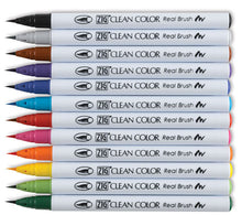 Load image into Gallery viewer, ZIG Clean Color Real Brush Pen Sets - 12 Pen Set