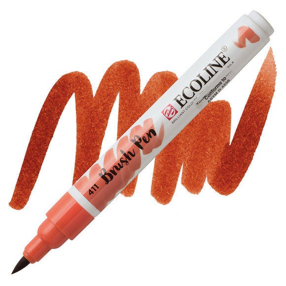 Ecoline Watercolor Brush Pen / 411 Burnt Sienna
