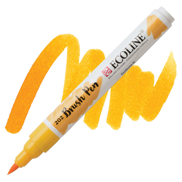 Ecoline Watercolor Brush Pen / 202 Deep Yellow