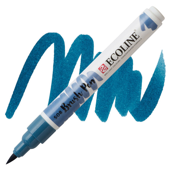 Ecoline Watercolor Brush Pen / 508 Prussian Blue