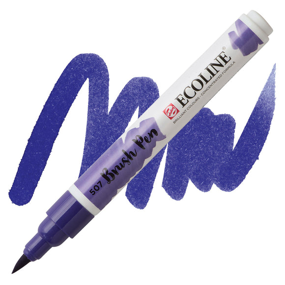 Ecoline Watercolor Brush Pen / 507 Ultramarine Violet