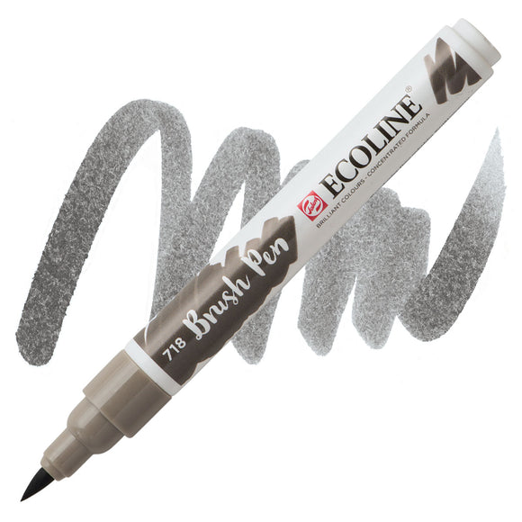 Ecoline Watercolor Brush Pen / 718 Warm Grey