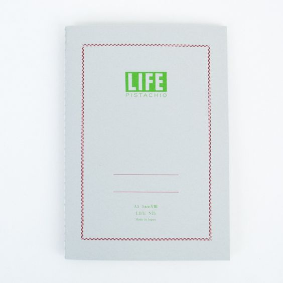 LIFE Pistachio Notebook // Grid