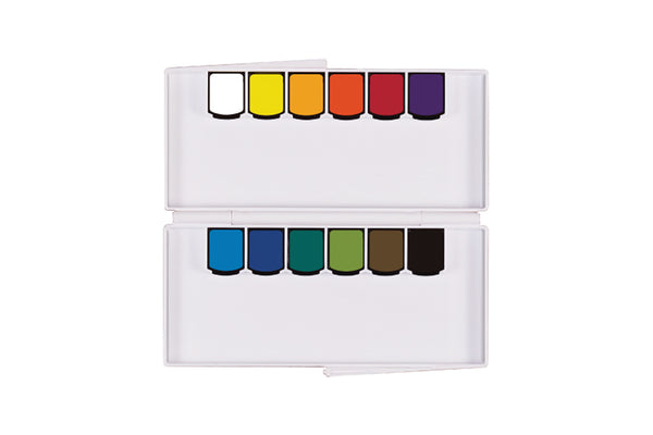 Mission Silver Class Pan Watercolor Set // 12